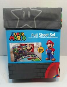 Nintendo Super Mario Full Sheets. 4 piece Set. New in package.