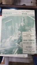 Old Vintage Football Match in Aid Of War Funds Magazine from India 1941