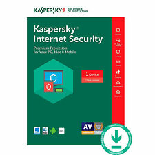 Kaspersky Internet Security 2017 dispositivo más reciente de 1 1 Años Antivirus Licencia global
