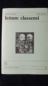 Letture Classensi  n° 18 Dante Alighieri  vedi indici in foto