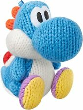 Nintendo Yarn Yoshi Woolly World Blue Amiibo Wii U 3DS Universal Game Figure