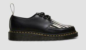 Doc Martens Men's Size 12 Black Ramsey Zebra Derbys AW004