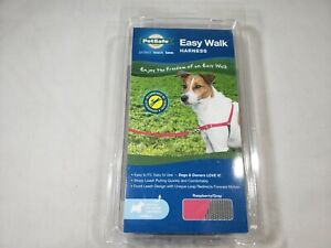 PetSafe EasyWalk Easy Walk Harness Dog No Pull Raspberry and Gray Small