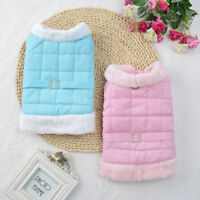 Small Pet Dog Soft Winter Vest Coat Cat Puppy Doggy Warm Jacket Clothes Apparel