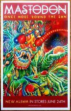 MASTODON Once More Round The Sun Ltd Ed New RARE Poster +FREE Metal Rock Poster!