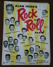 Alan Freed's Rock and Roll Party Sheet Music / Concert Program - late 1950s 28p