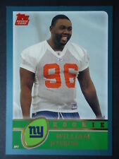 NFL 321 William Joseph New York Giants Topps Rookie 2003