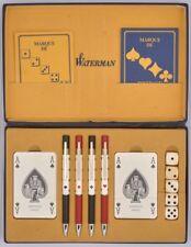 MAGNIFIQUE ET RAVISSANT WATERMAN Coffret jeux de cartes et 4 stylos billes F396