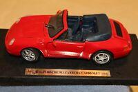 1994 Maisto Special Edition Porsche 911 Carrera Cabriolet 1:18 Die-cast Red