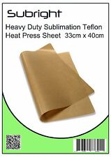 Sublimation Teflon Heat Press Sheet 33cm x 40cm Reusable easily cleaned