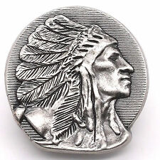 """Right Facing Chief Head Concho Antique Nickel 1-1/2"""" 3668-21 by Stecksstore"""