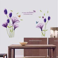 Removable Lily Flower Decal Wall Sticker Mural DIY Art Home Room Decor Vinyl#ke
