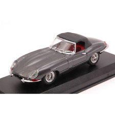 JAGUAR E SPIDER SOFT TOP 1961 GUNMETAL 1:43 Best Model Auto Stradali Die Cast