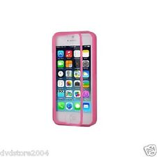 Custodia WALLET Cover FUCSIA FRONTE TRASPARENTE per Apple iPhone 5 5S Gel Gomma