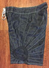 Billabong Andy Irons CharCoaL Gray Rising Sun Hawaii Surf Surfing BoardShorts 32