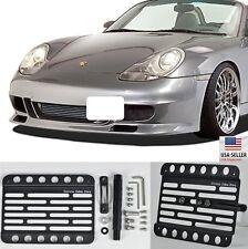 Front Bumper Tow Hook Mount Bracket License Plate For 96-04 Porsche Boxster 986
