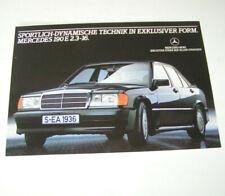 Prospekt / Broschüre Mercedes-Benz 190 E 2.3 16 V - Ausgabe 1983