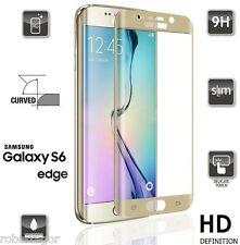 Pellicola in Vetro Temperato Salva LCD per Samsung Galaxy S6 Edge Plus Oro