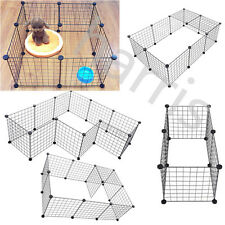 6pcsFree Combination Pet Dog Extra Wide Safety Metal Gate Play Indoor Fence Yard