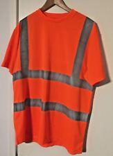 "Railway Orange Crew Neck Shirt XLarge 24"" Arm to Arm"