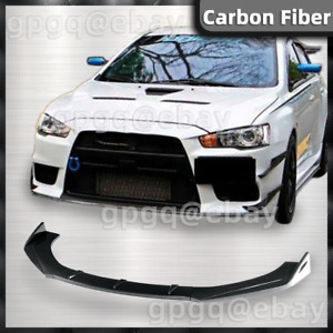 Front Bumper Lip Spoiler Lower Splitters Carbon Fiber For MITSUBISHI LANCER US