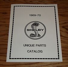 1969 1970 Ford Mustang Shelby Cobra Unique Parts Catalog 69 70