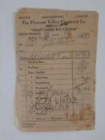 PLEASANT Valley CREAMERY 1933 Receipts LOCAL HISTORY williamsport Milton PA