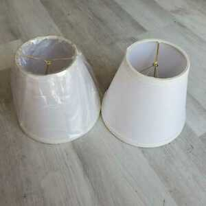 White Mini Chandelier Lamp Shades BRAND NEW - ✅**LOT OF 2**✅
