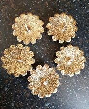 Glitter Gold Floating Candles (Pack of 5)