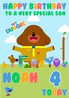 personalised  Birthday card Hey Duggee any name/any/age.