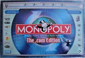 Monopoly .com Edition - Produced 2010 - MINT - STILL SEALED IN CELLOPHANE