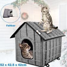 Katzenhaus Faltbar Haustierhaus Katzenhöhle Wetterfest Katzenhütte Katzen Grau