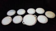 Ancien service à dessert porcelainiere union de limoges porcelaine dure 9 pièces