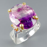 Jewelry for Sale Natural Fluorite 925 Sterling Silver Ring Size 8/R114248
