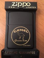 Camel Genuine Taste Prototype Z102 Yellow Paint Zippo Lighter Matte Black Rare