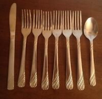 8 Pcs  ROGERS STAINLESS KNIFE Spoon 6 Forks
