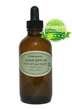 4oz Glass Bottle with Glass Dropper Wheat Germ Oil Organic for Skin Care Hair