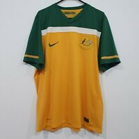 Nike Socceroos Australia 2010/11 World Cup Jersey Dri Fit Green & Gold Size XL