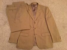 George Collection Mens Lightweight 2 Piece Suit (Sand) 42R Jkt 40R Trousers