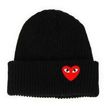 2019 Newly Men's Women Red Love Heart Beanie Knit Hip-Hop Winter Warm Wool Hat