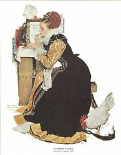 Norman Rockwell Actress Print Summer Stock