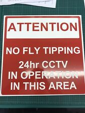 A4 No FLY TIPPING Warning Sign CCTV Sign Board Parking