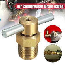 1pc 1/4'' NPT Brass Drain Valve for Air Compressor Tank Replacement Part