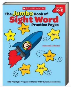 Scholastic The Jumbo Book of Sight Word Practice Pages (Paperback) FREE ship $35