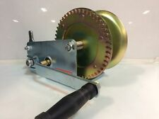 (Closeout) ABN Hand Crank Gear Winch Cable Heavy Duty 2500lbs Trailer Boat ATV
