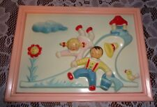Vintage Jack & Jill Wall Picture-Great 4 Baby's Nursery Room-Rare Find!-Plastic