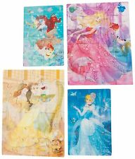 4 Pack - Disney Princess 3D Puzzle Jigsaw Pack - Girls Kids Toy Gift Present