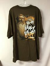 New Men's Duck Dynasty T-Shirt Happy Happy Happy Brown Size Medium #896Z