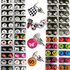 Wholesale 24pcs Mixed Enamel Logo Colorful Ear Studs Earrings W Display Pad Bulk