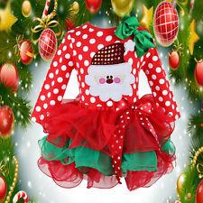 Bebé Niño Niña Papá Noel De Lunares Vestido Con Tutú Corto Vestido Largo Navidad